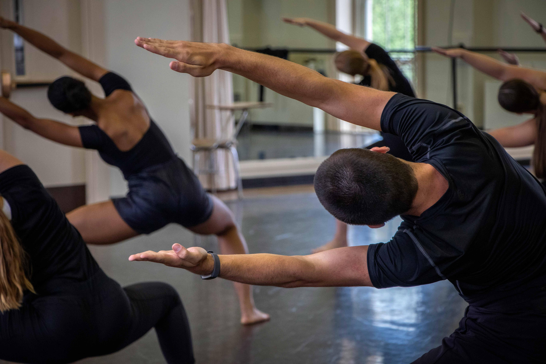 dancers in a dance class
