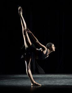 single dancer on stage